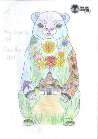 Winning bear design by Amy Downing, year 11 pupil