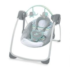 Baby Swing Vibrating Chair Combo Wedding Cover Hire Basingstoke Shop Infant Buybuy Ingenuity Comfort 2 Go Portable Jungle Journey In Grey