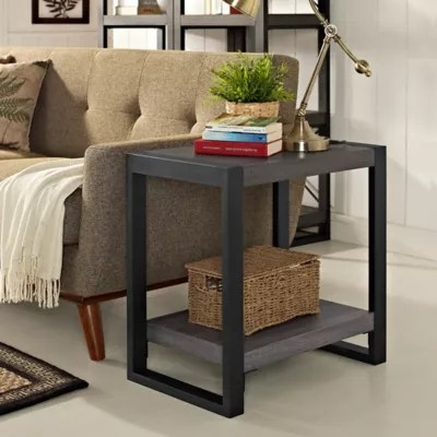 living room side table best wallpaper design for accent end tables bed bath and beyond canada forest gate 24 zeke rustic