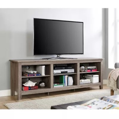 tv stand living room grey and turquoise furniture sofa coffee tables stands bed bath forest gate 70 inch asher traditional wood