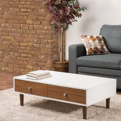 small living room coffee table side chairs for tables bed bath and beyond canada baxton studio gemini in white walnut