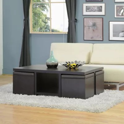 modern table for living room chair in baxton studio prescott and stool set dark brown