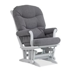 Cushions For Glider Chairs Bad Backs Rocker Replacement Bed Bath Beyond Dutailier Reg Sleigh In Grey Charcoal