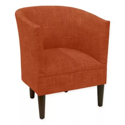 orange bucket chair pop up skyline furniture clark zuma in atomic bed bath beyond