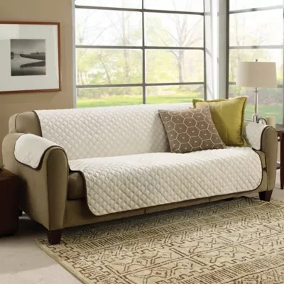 sofa covers toronto canada easy stretch uk furniture bed bath and beyond couchcoat cover in brown cream