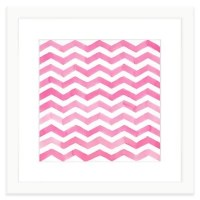 Buy Geometric Watercolor Wall Art in Pink from Bed Bath ...