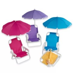 Kids Beach Chair With Adjustable Umbrella Vintage Dining Chairs Baby - From W.c. Redmon
