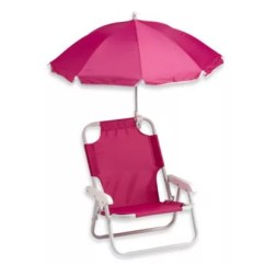 Infant Beach Chair With Umbrella Black Modern Dining Chairs Redmon Baby In Pink Bed Bath Beyond