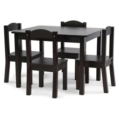 black table and chairs steel chair price in kerala sets buybuy baby tot tutors 5 piece set espresso