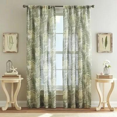 West Palm Poletop Curtain In Leaf Bed Bath Amp Beyond