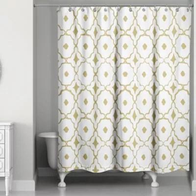 Shower Quatrefoil Curtain