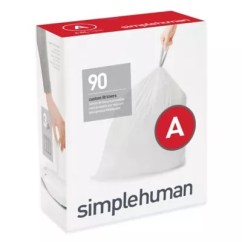 Kitchen Garbage Bags To Go Trash Can Liners Bed Bath Beyond Simplehuman Code A 90 Pack 4 5 Liter Custom Fit