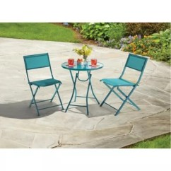 Folding Lawn Chairs Ontario Director Chair Covers Bed Bath And Beyond Patio Bistro Sets Tables Destination Summer 3 Piece Set In Teal