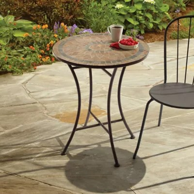 patio bistro table and chairs interior swing chair sets tables bed bath beyond outdoor mosaic stone