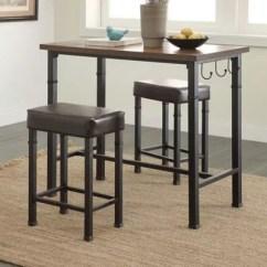 Pub Kitchen Table Curtain Ideas For Tables Chairs Bistro Sets Bed Bath Beyond Linon Austin 3 Piece Set In Black