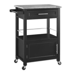 Kitchen Microwave Cart Furniture For Bed Bath Beyond Mitchell In Black
