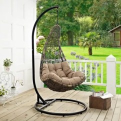 Swing Chair With Stand Outdoor Vinyl To Cover Chairs Modway Abate Patio Alone Bed Bath Beyond