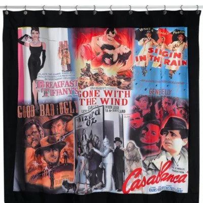 movie posters 72 x 72 fabric shower