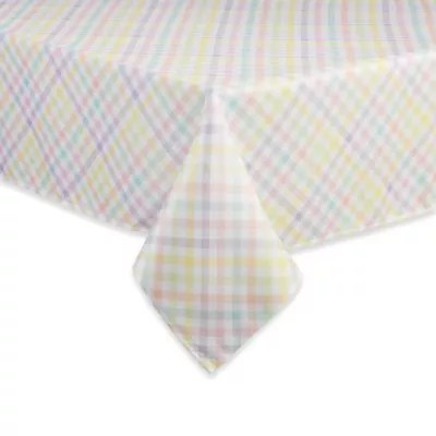 chair covers bristol and bath ichair massage table linens tablecloths dining bed beyond spring splendor gingham tablecloth in multi