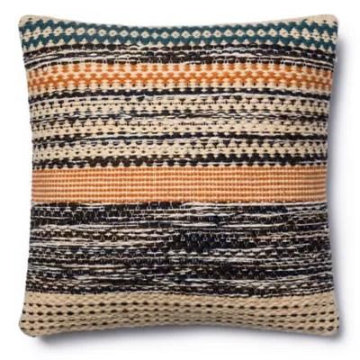 magnolia home jordan 22 inch square throw pillow in orange blue