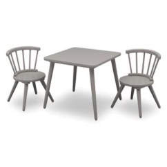 Baby Table And Chairs Folding Circle Chair Sets Buybuy Delta Children Windsor 3 Piece Set In Grey