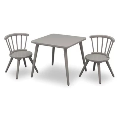 baby table and chairs gaming chair under 50 sets buybuy delta children windsor 3 piece set in grey