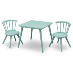 Where To Buy Toddler Table And Chairs Hickory Chair Renata Stand Sets Buybuy Baby Delta Children Windsor 3 Piece Set In Aqua