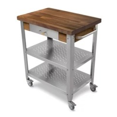 Stainless Kitchen Cart Mega System John Boos Walnut Wood Top In Steel Bed Bath And Beyond Canada