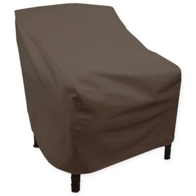 bed bath and beyond patio chair covers bedroom homesense brown furniture canvas high back cover in dark black