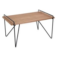 LumiSource Loft Mid-Century Modern Coffee Table in Black ...