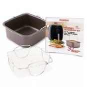 Nuwave Brio Air Fryer Gourmet Accessory Kit grey/black