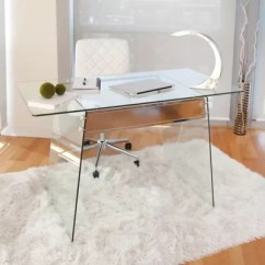 Clear Desk Chairs Chair With Hole Bed Bath Beyond Lumisource Glacier