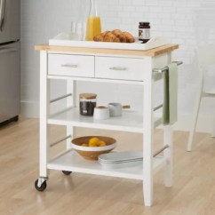 Kitchen Cart With Drawers Cheap Cabinet Hardware Trinity Wood And Tray In White Bed Bath