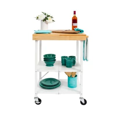 folding kitchen cart island bar origami foldable bed bath and beyond canada