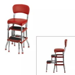 Chair Stool Retro See Through Plastic Dining Chairs Cosco Step In Red Bed Bath Beyond