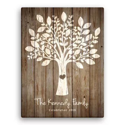 family tree personalized canvas