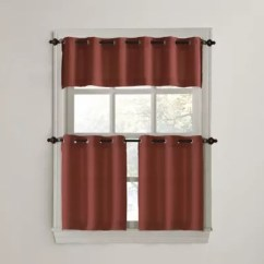 Grommet Kitchen Curtains Utensil Holder Ideas Bath Bed Beyond 918 Montego Casual Textured Window Curtain Tiers And Valance