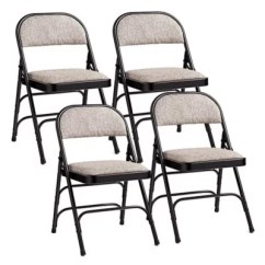 Cushioned Folding Chairs Turquoise Armless Chair Padded Bed Bath Beyond Samsonite Reg In Black Grey Set