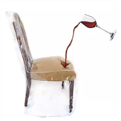 christmas chair covers the range graco duodiner high metropolis dining room slipcovers seat bed bath beyond clear cover