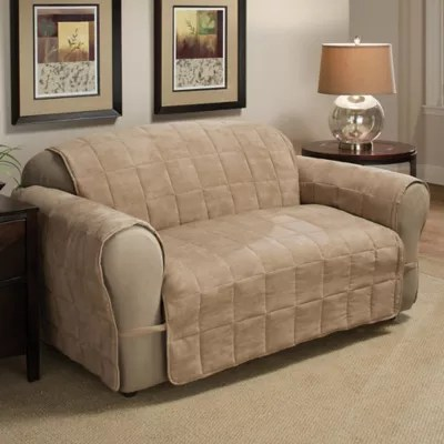 faux suede sofa cleaning instructions sofamania reviews ultimate protector bed bath beyond