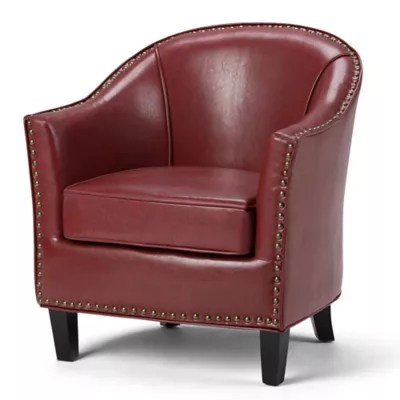 tub chair brown leather conference table and chairs kildare bonded bed bath beyond