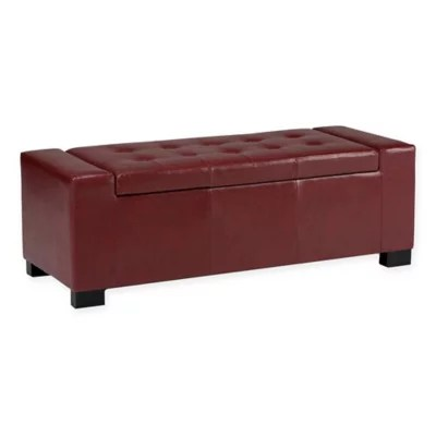 storage box chair philippines high table cover bedroom benches end of bed bath beyond laredo faux leather bench