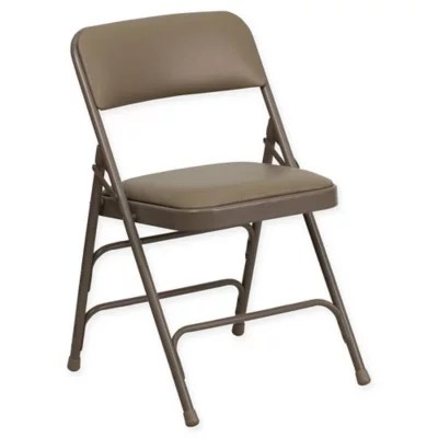 cushioned folding chairs madison park dining padded chair bed bath beyond flash furniture 30 inch metal with seat