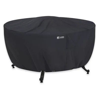 bed bath and beyond patio chair covers black metal chairs furniture chaise loveseat classic accessories full coverage round fire pit cover in