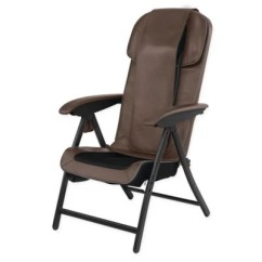 Bed Bath And Beyond Lounge Chair Cover Rocking Covers Walmart Homedics Fold Away Massaging Shiatsu In Brown