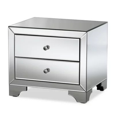 silver and mirrored bedroom furniture