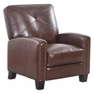 leather chairs of bath london reclining office abbyson living pushback recliner bed and