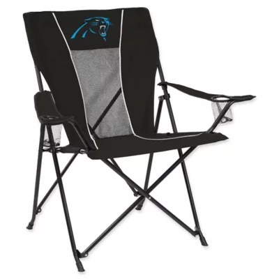 carolina panthers folding chairs tufted chair and ottoman nfl gametime bed bath beyond