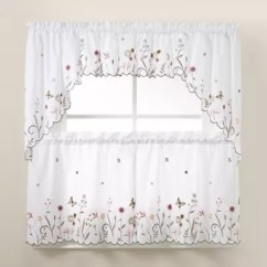 Kitchen Sheers Island Discount Bath Curtains Bed And Beyond Canada Garden Delight Window Tiers