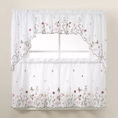 curtains kitchen stainless steel trash cans bath bed and beyond canada garden delight window tiers